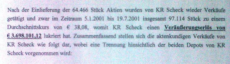 Gerichtsgutachten über Friedrich Scheck