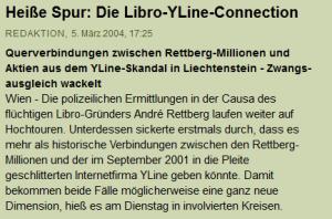 Der Standard über die Libor-YLine-Connection