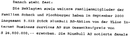 Scheck, Georg Plochberger und das Käuferkonsortium