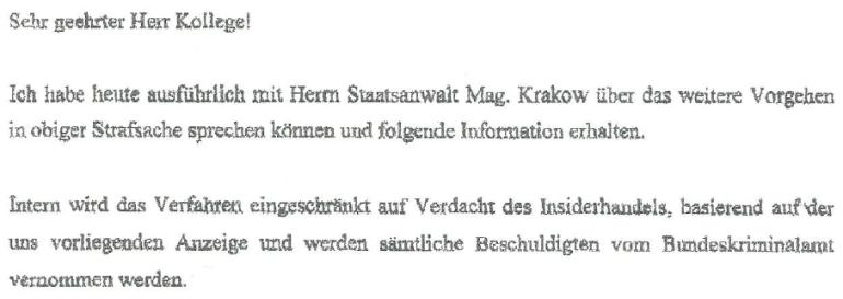 Schreiben von Herbert Eichenseder