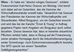 Karl-Heinz Grasser Homepag-Affäre