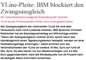 IBM blockiert den Zwangsausgleich