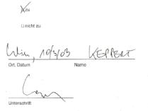 Thomas Keppert unterfertigt AR-Beschluss bei FirstInEx
