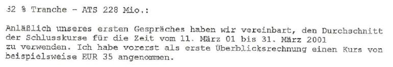 Friedrich Scheck an YLine-Vorstand