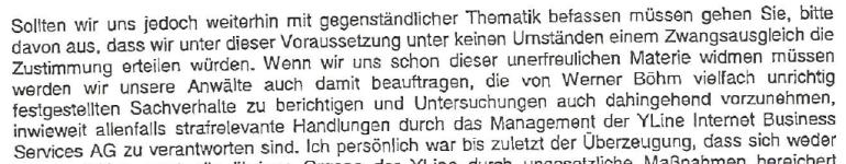 Friedrich Scheck schreibt an den Masseverwalter