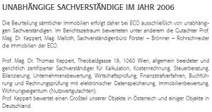 Thomas Keppert als Schaverständiger bei Friedrich Schecks ECO Business Immobilien AG