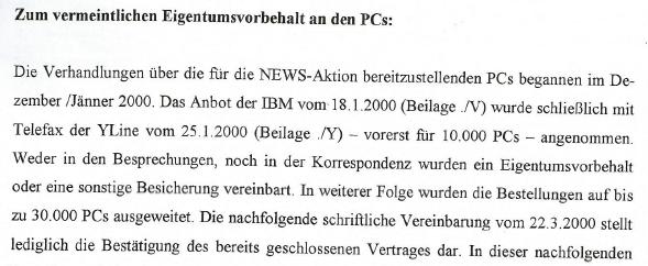 Eigentumsvorbehalt von IBM