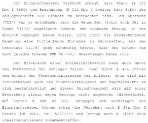 OLG Begründung in Sachen Friedrich Scheck