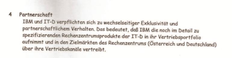 Exklusive Partnerschaft mit IBM im Bereich Internetzugang und Rechenzentrum