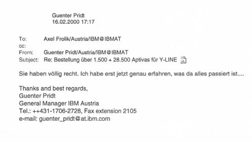IBM General Günter Pridt choreografiert den YLine-Deail