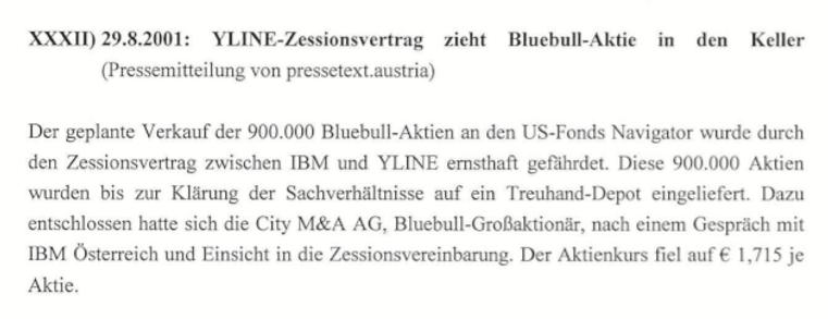 YLine-Investmentbanker Mike Lielacher unterstützt IBM freundlich und spart Millionen