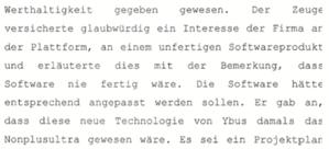 Die Aussage des Daimler-Managers in Sachen ARES im Strafverfahren 2007
