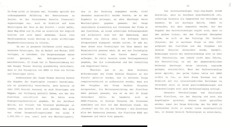 Die Aussagen des Daimler-Managers und Sachverständigen im Strafverfahren 2007