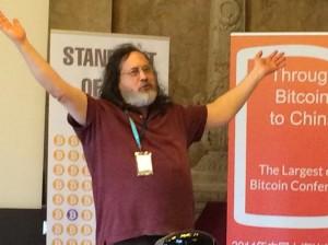"""Richard Stallman steht auf """"free"""""""