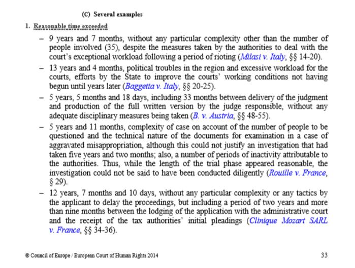 Auszug aus dem EGMR-Handbuch für ein faires Verfahren
