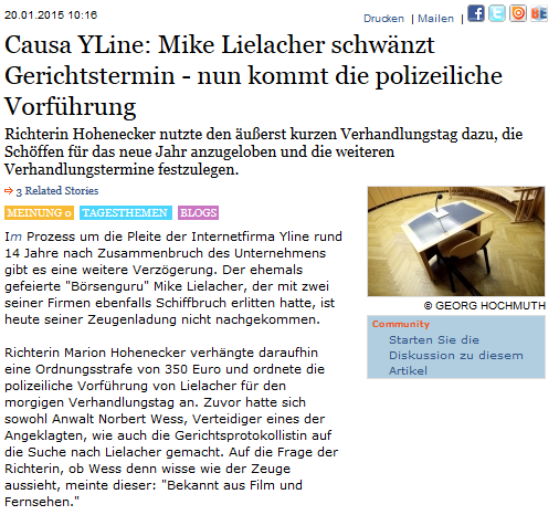 Mike Liealcher war nicht da