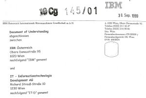 IBM Vertrag